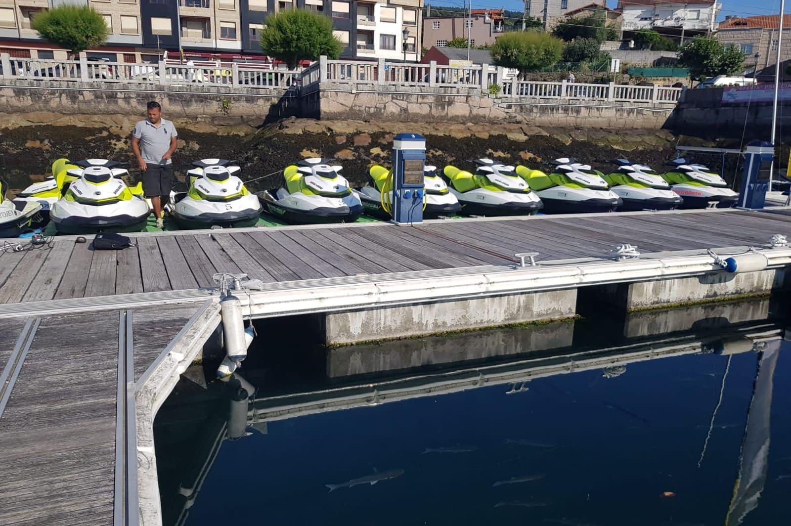 Alquiler de motos acuáticas en Combarro