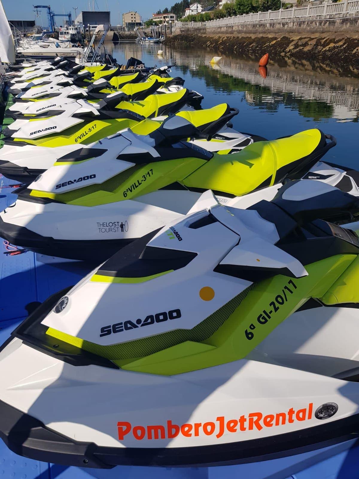 Alquiler de motos de agua en Combarro